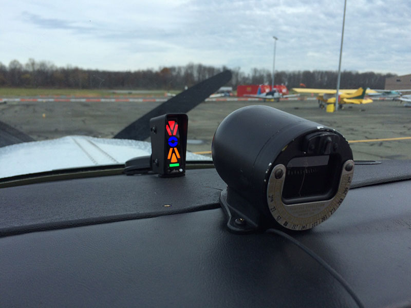 Alpha Systems AOA Eagle Angle of Attack Indicator Installed in a Bonanza A36