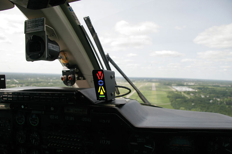 Alpha Systems AOA Eagle Angle of Attack Indicator Installed in a Mitsubishi MU-2B-60