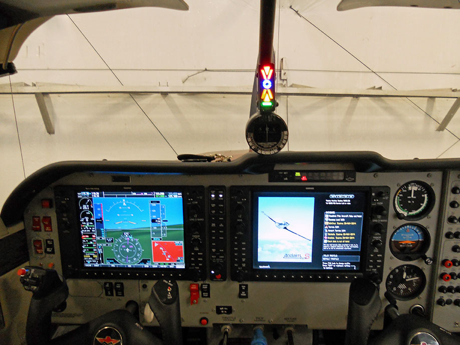 Alpha Systems AOA Eagle Angle of Attack Indicator Installed in a Mooney M20TN Acclaim