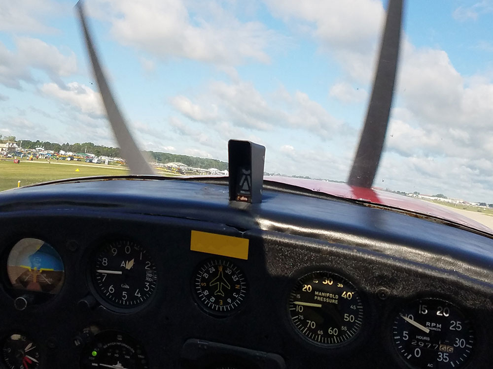 Alpha Systems AOA Eagle Angle of Attack Indicator Installed in an Aeronca O58B