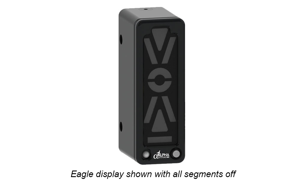 Alpha Systems AOA Eagle Angle of Attack Indicator with lights off