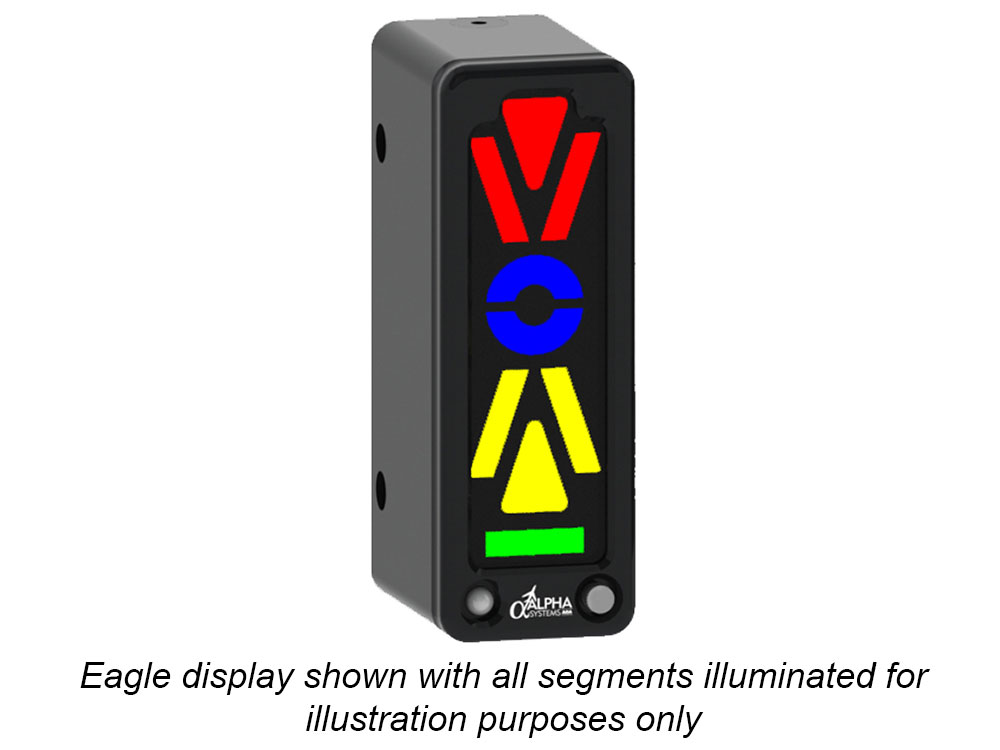 Alpha Systems AOA Eagle Angle of Attack Indicator with lights on