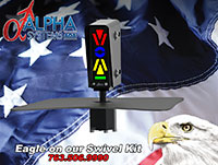 Alpha Systems AOA Eagle Angle of Attack Indicator on a swivel mount AD