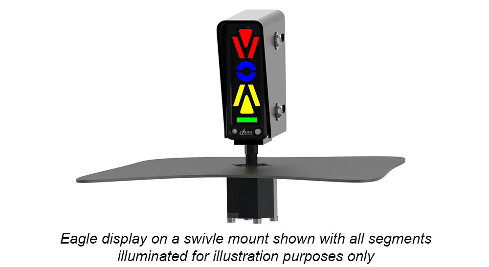 Alpha Systems AOA Eagle Angle of Attack Indicator on a Swivel Mount