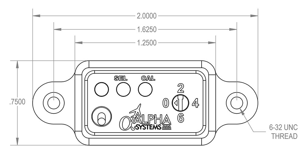 Alpha Systems AOA Switch Panel Dimensions