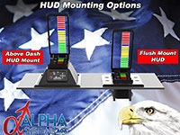 Alpha Systems AOA Falcon Angle of Attack Indicator with Dual Above Dash HUDs