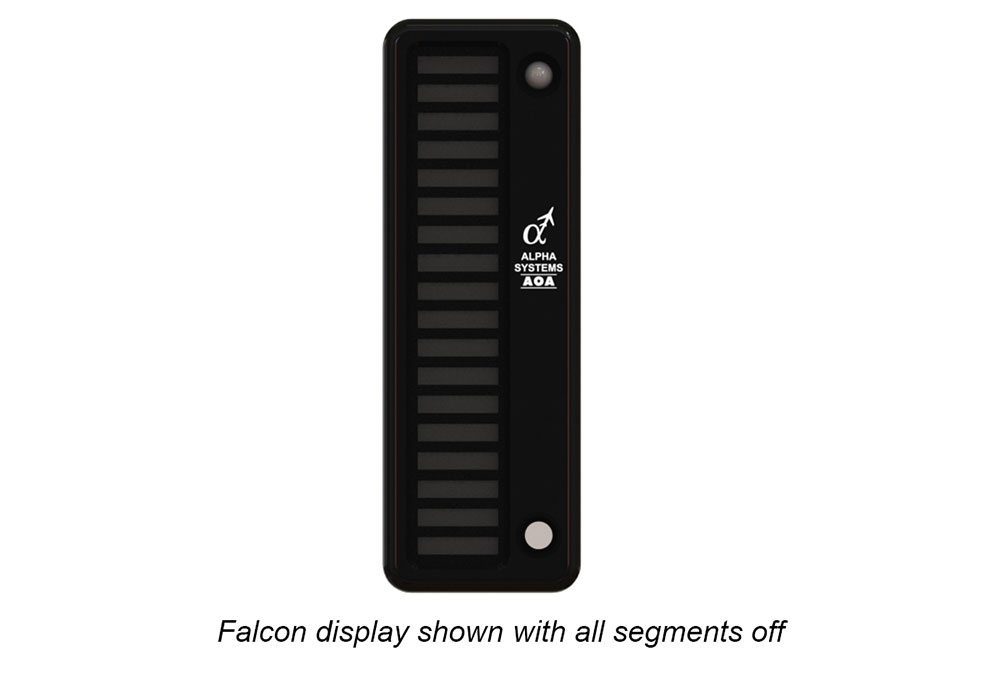 Alpha Systems AOA Falcon Angle of Attack Indicator with lights off