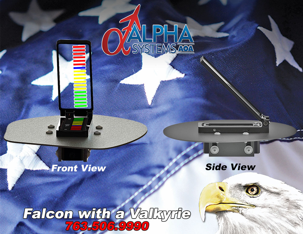 Alpha Systems AOA Falcon Angle of Attack Indicator on a Swivel Mount